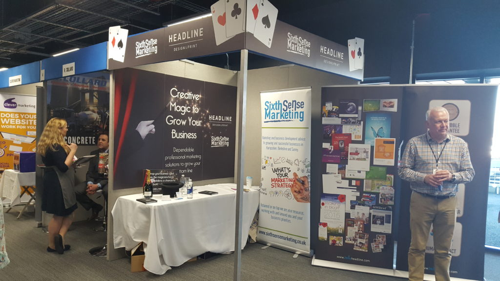 Sixth Sense Marketing and Headline Design and Print co-exhibit at Hampshire Business Expo