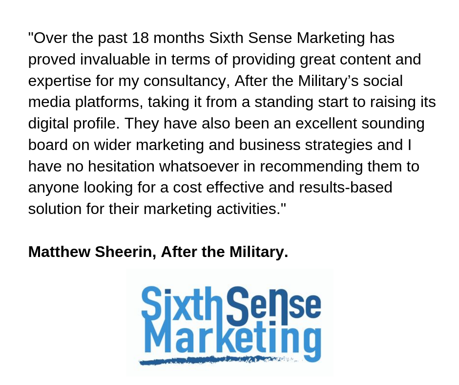 Sixth Sense Marketing - Client testimonial