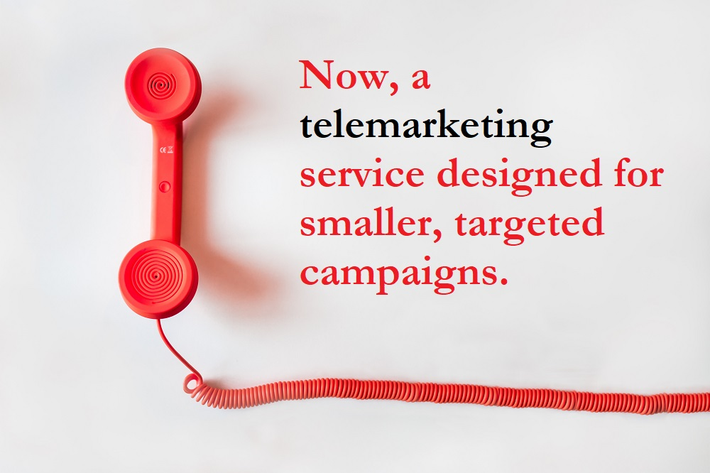 Telemarketing small scale