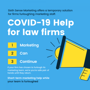 Marketing support for law firms who have furloughed their marketing teams