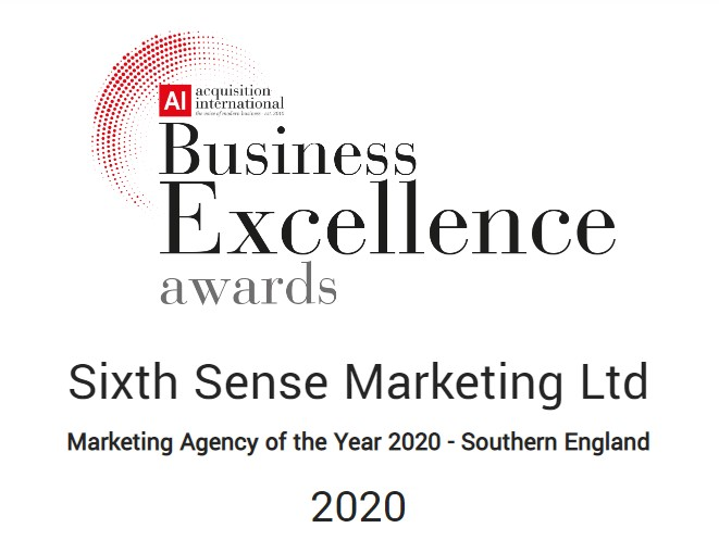 Marketing award for Sixth Sense Marketing
